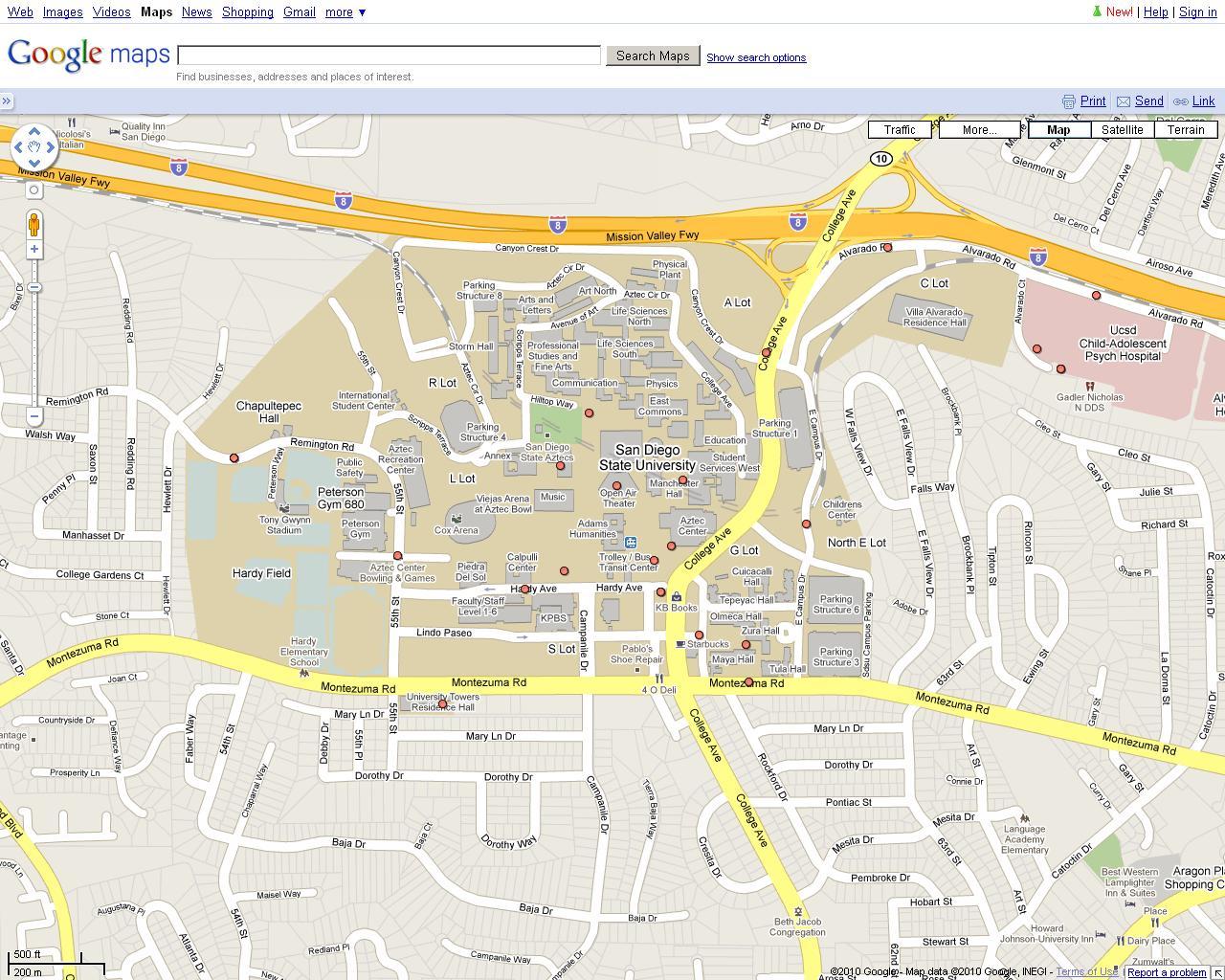 SDSU Map