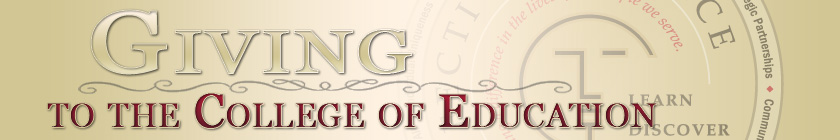 Header image for Giving to the College of Education